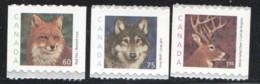 2000  Mid-values Wildlife Definitives Coil  Singles  Fox, Wolf, Deer Sc 1879-81 - Neufs