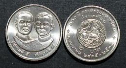Thailand Coin 2 1992 100th Ministry Of Interior Y253 UNC - Thailand