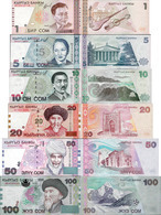 Kyrgyzstan 1997-2002 Set 6 Pcs 1+5+10+20+50+100 Som - Pick 13-21 UNC - Kyrgyzstan
