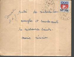 Réunion Lettre Du 07 04 1965  De St Paul Pour Le Centre De Réeducation  Aveugles  Sourds Muets à Ste Marie De La Réunion - Reunion Island (1852-1975)