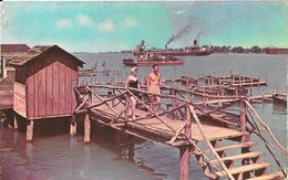 Scene Along The St Clair River, North Of Detroit, Michigan - Carte Non Circulée - Detroit