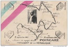 N14- Souvenir Du Voyage Du Président De La République, Raymond Poincaré, 1913 , Périgueux , Guéret, Limoges  - 2 Scans - Events