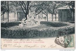 R17- NAPOLI (ITALIE)  FONTANA  NELLA VILLA NAZIONALE - IL RATTO D'EUROPA    - (OBLITERATION DE 1902) - Napoli