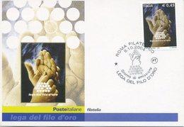 ITALIA - FDC MAXIMUM CARD 2004 - LEGA DEL FILO D'ORO - ANNULLO SPECIALE - Cartoline Maximum