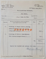 Commercial Invoice Facture Indian Arts Palace Jewellers & Art Dealer Dheli India 1953 - Other