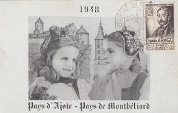 Carte  Locale  1er  Jour   FRANCE   JOURNEE  Du   TIMBRE      MONTBELIARD    1948 - Stamp's Day