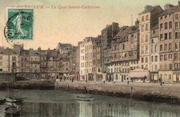 HONFLEUR ( 14 ) - Le Quai Sainte Catherine . - Honfleur