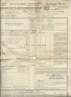 Javingue Sevry Avertissement Extrait Des Rôles 1912 - Belgium