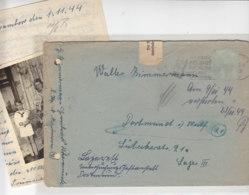Gefangenenbrief Aus Ükermünde Gestempelt In STETTIN 1.11.44 Nach Dortmund ... Lager III / Gefängniszensur - Briefe U. Dokumente