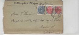 Brief Aus Bellingbro Mejeri Pr. Odense Aus ODENSE 16.8.93 Nach Berlin / Mit Inhalt - ERHALT!! - 1864-04 (Christian IX)