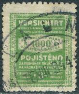 Bohemia & Moravia Böhmen Und Mähren 3 Kr Railway Baggage INSURANCE Revenue Parcel Freight Eisenbahn Versicherung Germany - Trains