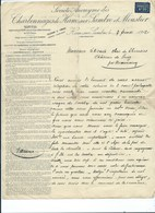 Charbonnages Ham Sur Sambre Et Moustier 1912 - Belgium