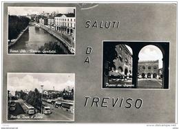 TREVISO:  SALUTI  DA ... -  VISIONI  -  STRAPPETTO  IN  ALTO  -  FOTO  -  FG - Treviso