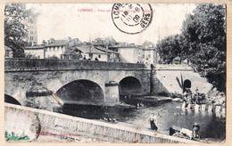 X31292 LOMBEZ Pont Sur La SAVE Devant Tribunal Blanchisseuse Lavandières 1909 à CONAN Cc MOINDROT Dinard - Autres Communes