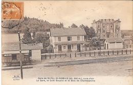 Garde De St-PAL-St ROMAIN (alt 866m) Cure D'air. La Gare, Le Café Bouard Et Le Bois De Chamblanche - France