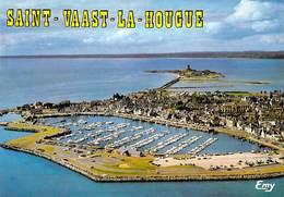 50 - SAINT VAAST LA HOUGUE Vue Aerienne Du Port Et Du Fort De La Hougue - Saint Vaast La Hougue