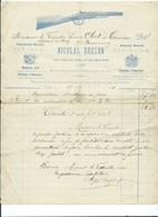 Liège Arquebusier Breveté Nicolas Bodson Adressé à Mr Le Vicomte Obert De Thieusies Château De Scory Beauraing - Altri