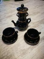 Ancienne Dînette émaillée Cafetière Et Ses 2 Tasses - Toy Memorabilia