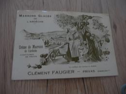 CPA 07 Ardèche Pub Privas Clément Faugier Marrons  BE - Privas