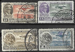 Mexico  1929   Sc#C6-7, C13, C17  Airmails Used  2016 Scott Value $3.85 - Mexico