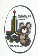 Autocollant , MOSCOU 80 , MOCKBA 80 ,  Avec L'association FRANCE-URSS - Autocollants