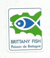 Autocollant , BRITTANY FISH ,  POISSON DE BRETAGNE - Aufkleber