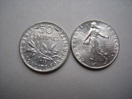 FRANCE = UNE PIECE  DE 50 CENTIMES  DE 1913 EN ARGENT - France