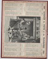 Almanach Des  Postes, 1914,  La Leçon De Lecture,marin Département  Du Rhône , Communes, Foires Et Marchés - Calendars