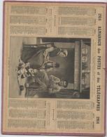 Almanach Des  Postes, 1914,  La Leçon De Lecture,marin Département  De Charente  Inférieure, Maritime, Communes, - Calendars