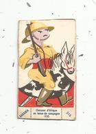 Chromo à Implanter , BANANIA ,  N°316 ,  CHASSEUR D'AFRIQUE EN TENUE DE CAMPAGNE ,  1930 - Cioccolato
