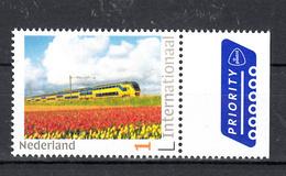 Nederland 2019 Internationaal Persoonlijke Zegel : Thema  Trein, Train, Tulpen Velden, Tulp - Trains
