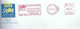Ema Secap NT - Salon De Provence - Musée Grévin - Nostradamus - Musée De L'Emperi - Musée De La Crau -enveloppe Entière - Marcofilia (sobres)