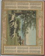 Almanach Des  Postes, 1914,  Sous Les Mûriers, Ajaccio, Corse, Moutons Double Cartonnage, Département  Ariège - Calendars
