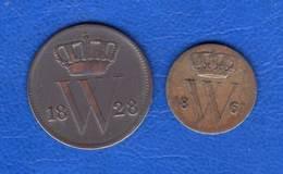 Pays  Bas  1/2  Cent  1861  + Cent  1828 - [ 3] 1815-… : Reino De Países Bajos