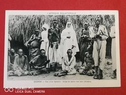 ( CPA AFRIQUE ) AFRIQUE ÉQUATORIALE / OUGANDA - Cour D'une Léproserie - Uganda