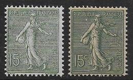 Semeuse N°  130 Et 130j **  - Cote 21 € - 1903-60 Semeuse Lignée