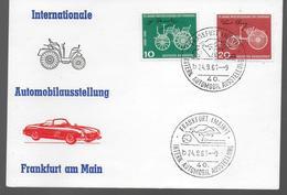 ALLEMAGNE  Carte 1961 Frankfurt  Voitures Automobiles Tacots - Cars