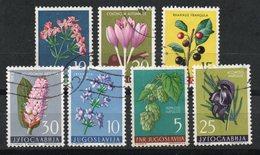 Ref: 1390. Yugoslavia. 1956 - 57. Plantas. - Usados