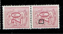851  Paire  **cu  2 Cassé - Abarten Und Kuriositäten