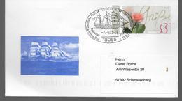 ALLEMAGNE  Lettre 2003 Rostock Bateaux Roses - Ships