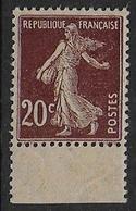 Semeuse  N°139e  **  - Cote 14 € - 1906-38 Semeuse Camée