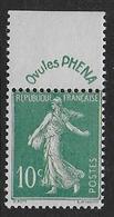 Semeuse  N°188  **  - Cote 65 € - 1906-38 Semeuse Camée