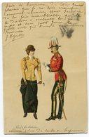 CPA - Carte Postale - Fantaisie - Mode - Homme Et Femme - 1900 (C8614) - Moda