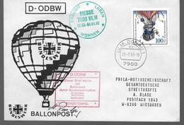 ALLEMAGNE Lettre 1993 Donau Mongolfieres Ballon - Airships