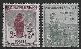 Orphelins  N°148 Et 149  **  - Cote 100 € - France