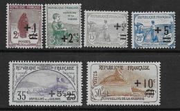 Orphelins  N° 162 à 167  **  - Cote 110 € - France