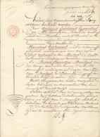 Akte Huwelijkscontract Mulder Henri Verhavert X Maria Moortgat - Steenhuffel - Notaris De Abt Merchtem 1840 - Vieux Papiers