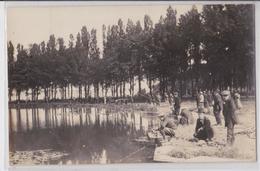 AMIENS - Carte-photo D'un Concours De Pêche Au Parc De La Hotoie - Amiens