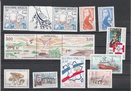Saint Pierre Et Miquelon Yvert Année 1987 N°  ** 475 à 485A Avec 477A - St.Pierre & Miquelon