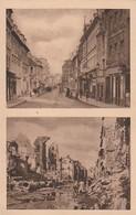 Rare Cpa Caen La Rue D'Auge Avant Et Après La Bataille - 1939-45